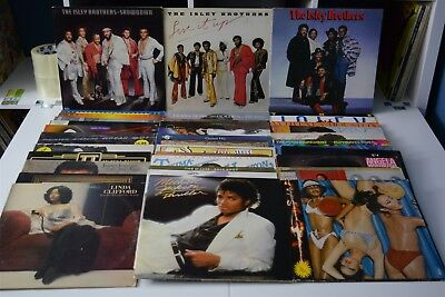 SOUL FUNK LOT #22 ~ 35 LPs ~ MICHAEL JACKSON 5 THELMA HOUSTON ISLEY BROTHERS