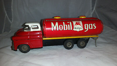 """DAIYA"" Vintage 1950's mobil gas tanker truck by Daiya - Made In Japan,NO BOX"