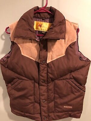 Vintage Camel Goose Down Puffer Vest Clean Medium Korea
