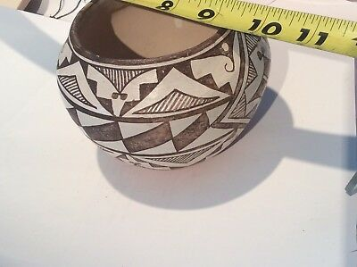 Vintage Pottery Bowl Native American Dolores Sanchez Pottery Acoma N.M.