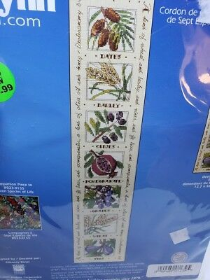 Janlynn SEVEN SPECIES BELL PULL Counted Cross Stitch Craft Kit 2006 NEW