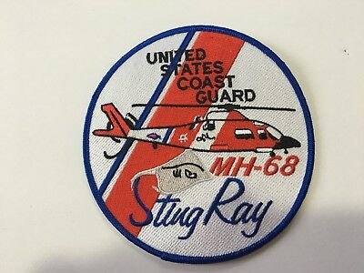 Us Coast Guard Helicopter Mh-68 Sting Ray Patch