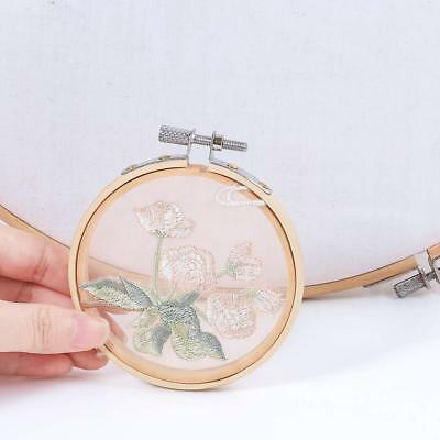 10pcs Embroidery Circle Set Hoops Cross Hoop Ring Wooden Round Adjustable Bamboo