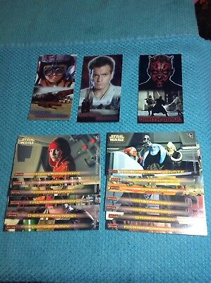 1999 Topps Widevision Star Wars Episode 1 Sticker And Foil Cards