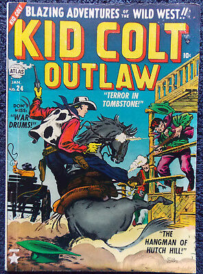 Kid Colt Outlaw #24  Timely/Atlas! 1953! Nice! SYd Shores Cover!