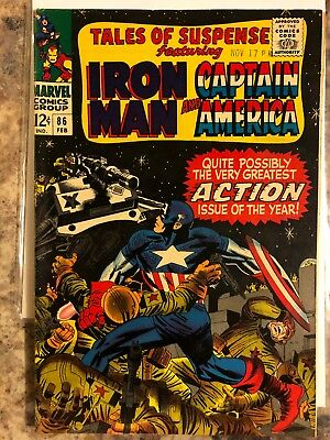 Tales of Suspense #86 Marvel Comics Iron Man and Captain America appearance Vf+!