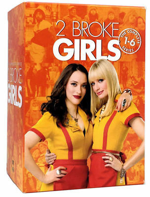 2 Broke Girls The Complete Series:1-6, Dvd Box Set, Free Shipping, New