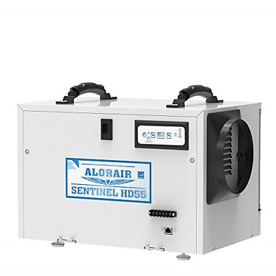AlorAir Basement/Crawlspace Dehumidifiers Removal 120PPD Saturation 55 PPD AHAM,