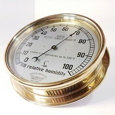 ~ WOW ~ PRE WWII ~ Abbeon Relative Humidity Indicator ~ Very Good Condition