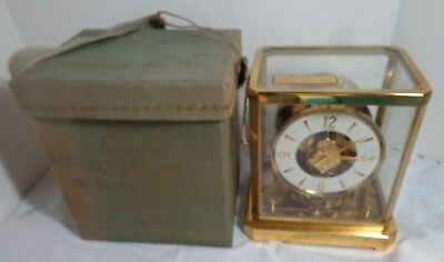 Vintage 1960's JAEGER LECOULTRE ATMOS SWISS CLOCK With Original Case # 130679
