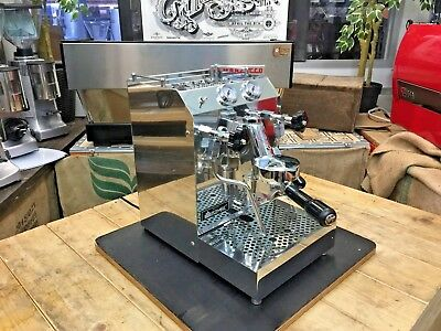 Isomac Tea Due 1 Group Stainless Espresso Coffee Machine Cart Domestic Barista