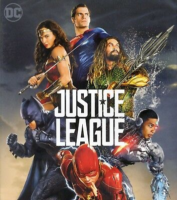 Justice League 2017 PG-13 superhero movie, new DVD, Batman Superman Wonder Woman