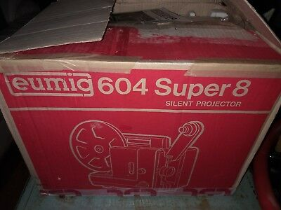 Eumig 604 Super Silent Projector Works LOOKS TO BE POSSIBLY NEW IN BOX!