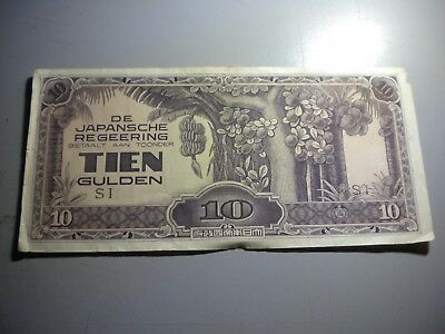 Japanese Occupation Netherlands Territory Banknote