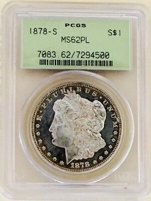 1878 S Morgan Pcgs Ms62Pl! This Coin Is The Worst Under-Graded Easily Looks 65!