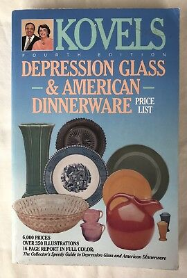 Kovel's Depression Glass and American Dinnerware and Price List BOOK
