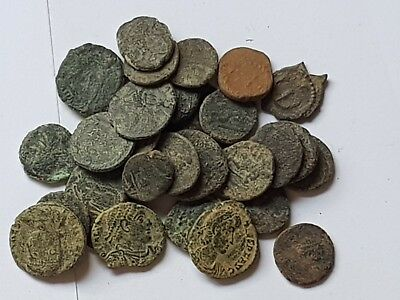 Lot Of 30 Ancient Bronze Roman Coins Very Interest