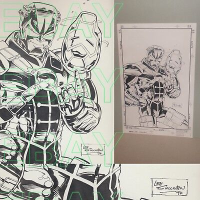 1994 Marvel Comics IRON MAN Original Artwork TRACER by Lee Sullivan L@@K