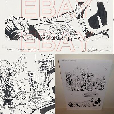 2000 AD Sex Lies  JUDGE DREDD  Megazine ORIGINAL ARTWORK  by LEE SULLIVAN L@@K