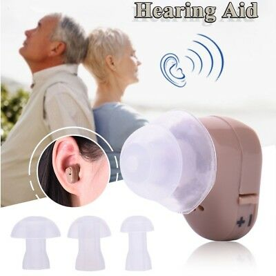 Digital Invisible In Ear Mini Deafness Hearing Aid Sound Voice Amplifier & Case