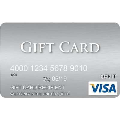 $300 GIFT CARD Activated Ready To Use Anywhere No Fees After Purchase