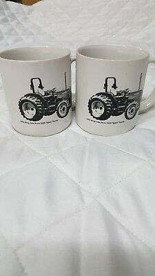 2 vintage John Deere Coffee Mugs Go With The Green Service 5400 Spirit Tractor