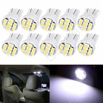 10Pcs T10 W5W 194 168 White 8SMD 3528 LED Bulbs Glove Box Light Lamp For Jeep