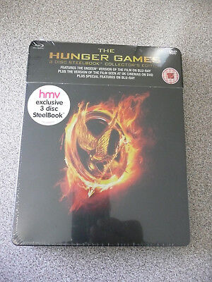 The Hunger Games Blu-ray Steelbook- Region B/UK Release - Brand New