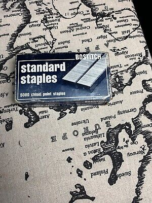 "Vintage Bostitch 5000 1/4"" Standard Staples -Made in USA"