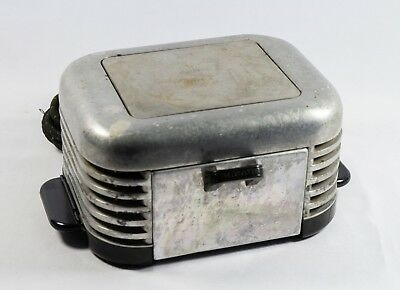 Vintage 1930s Art Deco Calkins T2 Breakfaster  Bakelite Toaster WORKS
