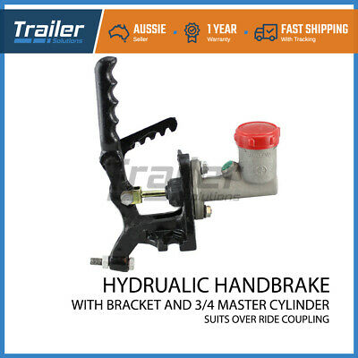 "Trailer 3/4"" Hydraulic Master Cylinder Coupling Hitch Fluid Pump Brake Bracket"