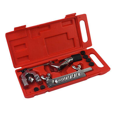 Inch & Metric 5-16mm Pipe Flaring Tools Kit with Hard Storage Box