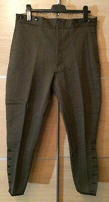 Vintage Breeches Hose Whipcord Oliv Deadstock New Old Stock NOS 1930er 30er 30s!