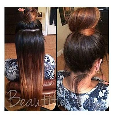 Women Fashion Long Straight Ombre Lace Front Wig Hair Heat Resistant Full Wigs