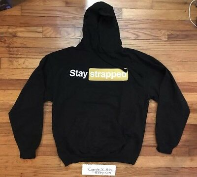 d103ef8e9 Young M.A Stay Strapped Hoodie Tour Merch Black Size L NYC Subway Dipset MA