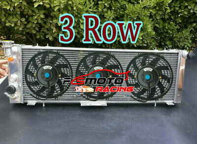 3 ROW Aluminum Radiator +FANS for 1991-2001 Jeep Cherokee XJ / Wagoneer Truck AT