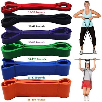 Resistance Exercise Heavy Duty Bands Tube Home Gym Fitness Premium Natural UK