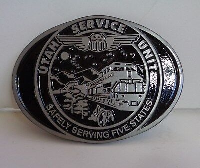 Union Pacific Utah Service Unit Safety Award Belt Buckle 2001 Never Used