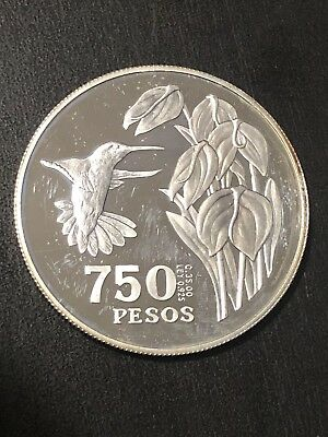 COLOMBIA 1978  750 PESOS  35g. 0925  SILVER  UNC  Proof Coin Only 3k Minted