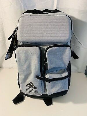 adidas All Roads Laptop Backpack Premium Padded Travel Backpack Grey BRAND  NEW ! 8f514a4453