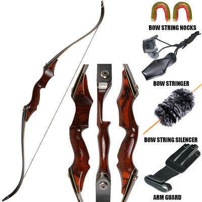 40LBS ARCHERY TAKEDOWN Recurve Bow Hunting Target Longbow