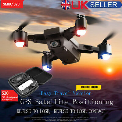 5MP 1080P 120°Wide-Angle Aititude Hold RC Toy Helicopter Foldable Selfie Drone!