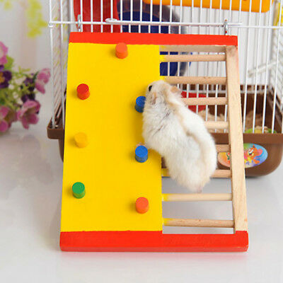 Wooden Hamster Climbing Toy Gerbil Guinea Pig Ladder Small Pet Exercise Tool _H