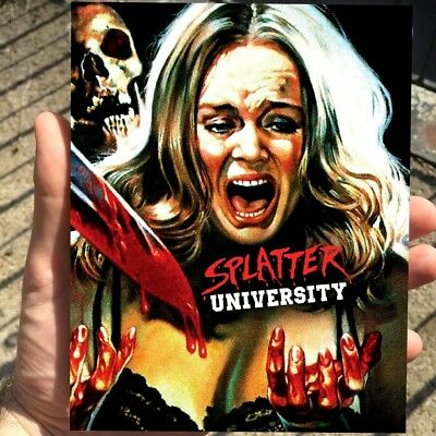 SPLATTER UNIVERSITY (1984) Blu-Ray *UNCUT SLASHER Limited 1/1500 *Rare SLIPCOVER