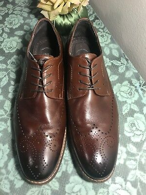 Men's STACY ADAMS Oxford Leather  Brown Shoes size 12