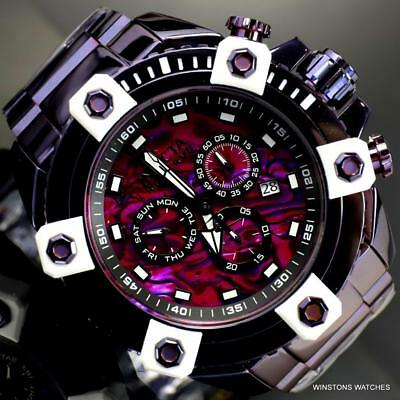 Invicta Reserve Grand Octane 63mm Purple Steel Abalone Swiss Mvt Watch New