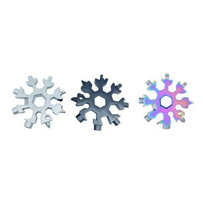 Snowflake Keychain Multi-Tool EDC 18-in-1 card combination Compact portable card