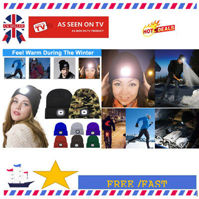4LED Lighted Beanie Cap Hip Hop Men Women Knit Hat Hunt Camping Running Hat H7Is
