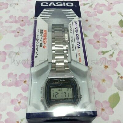 CASIO OFFICIAL Standard Digital Watch A164WA-1 Men's Wristwatch 20450 JAPAN