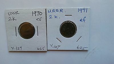 USSR SOVIET RUSSIA Coins of 2K 1970,1971